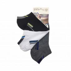 Ανδρικές Σετ κάλτσες σοσόνια 3 Ζευγάρια 808 - Μαύρο/Λευκό/ Γκρι Σκούρο