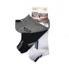 Ανδρικές Σετ κάλτσες σοσόνια 3 Ζευγάρια 808 - Μαύρο/Λευκό/ Γκρι