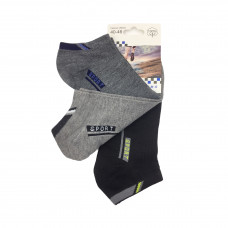Ανδρικές Σετ κάλτσες σοσόνια 3 Ζευγάρια 808 - Μαύρο/Γκρι/ Γκρι Σκούρο