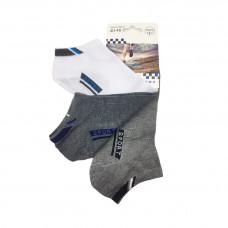 Ανδρικές Σετ κάλτσες σοσόνια 3 Ζευγάρια 808 - Λευκό/Γκρι/ Γκρι Σκούρο