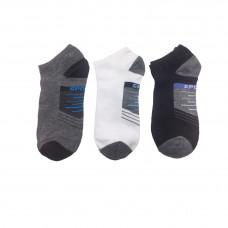 Ανδρικές Σετ κάλτσες σοσόνια 3 Ζευγάρια 862 - Μαύρο/Λευκό/ Γκρι