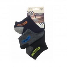 Ανδρικές Σετ κάλτσες σοσόνια 3 Ζευγάρια 863 - Μαύρο/Μπλε/ Γκρι