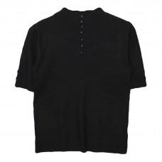 Γυναικείο Μπλούζα μάλλινο με κοντό μανίκι 5383 - Μαύρο