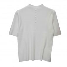 Γυναικείο Μπλούζα μάλλινο με κοντό μανίκι 5383 - Λευκό