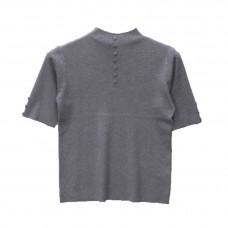 Γυναικείο Μπλούζα μάλλινο με κοντό μανίκι 5383 - Γκρι