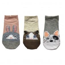 Γυναικείες κάλτσες Σετ 3 ζεύγη WZ1-68 - Ροζ/Γκρι/Μπεζ