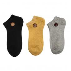 Γυναικείες κάλτσες Σετ 3 ζεύγη WZ1-32 - Μαύρο/Γκρι/Μουσταρδί