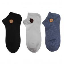Γυναικείες κάλτσες Σετ 3 ζεύγη WZ1-32 - Μαύρο/Μπλε/Λευκό