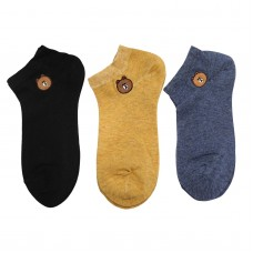 Γυναικείες κάλτσες Σετ 3 ζεύγη WZ1-32 - Μαύρο/Μπλε/Μουσταρδί