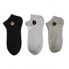 Γυναικείες κάλτσες Σετ 3 ζεύγη WZ1-32 - Μαύρο/Γκρι/Λευκό