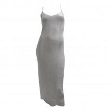 Γυναικείο Φόρεμα πλεκτό με Lurex 01672 - Γκρι