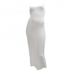 Γυναικείο Φόρεμα πλεκτό με Lurex 01672 -  Λευκό
