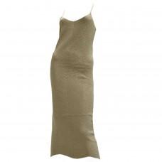 Γυναικείο Φόρεμα πλεκτό με Lurex 01672 -  Μπεζ