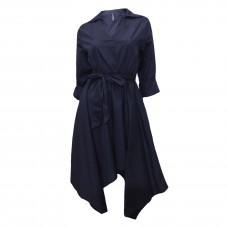 Γυναικείο πουκάμισο φόρεμα κοντό με μύτες 6700 - Μπλε Σκούρο