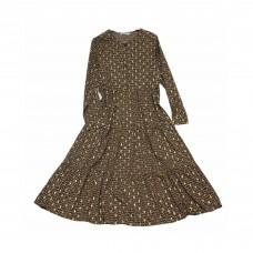 Γυναικείο Εμπριμέ μάξι πουκάμισο φόρεμα, με κουμπιά W7920 - Ταμπά